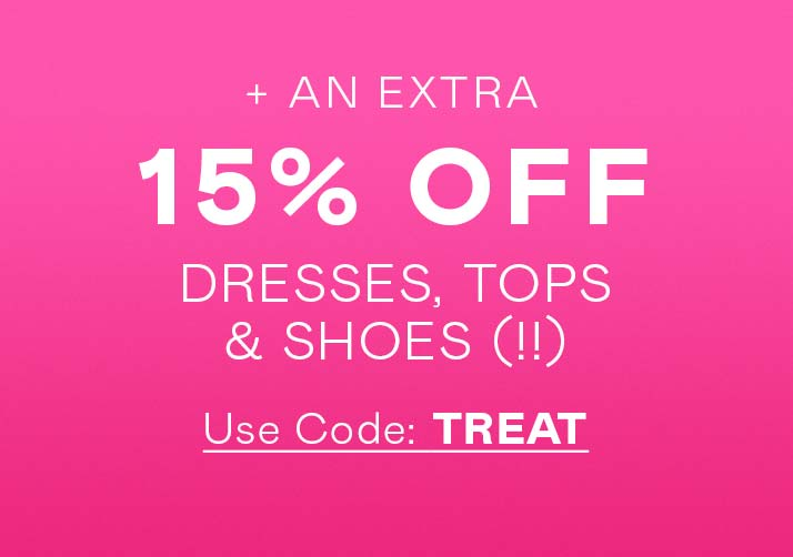 Get Your Shop On (!!) Extra 15% Off
