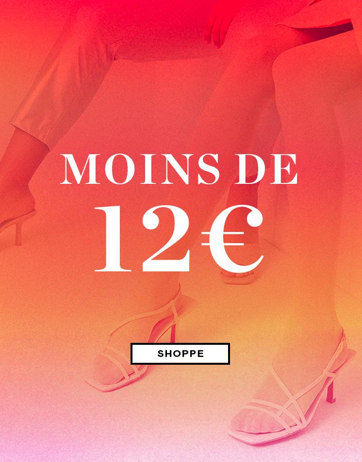 moins de €12